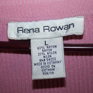 Rena Rowan Tops - Cute Pink Knit Top, short sleees